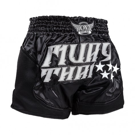 "Joya Kickboxing Shorts ""Pro Thai"" Silver Black"