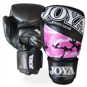 Joy Camo Pink Boxing Gloves pair