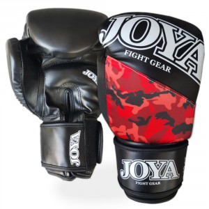 Joya Camo Red Boxing Gloves pair