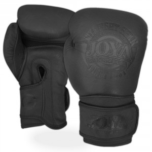 "Joya Kickboxing Gloves ""Fight Fast"" Leather black"