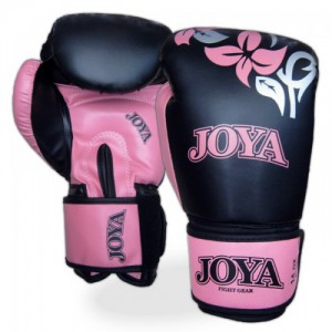 "JOYA ""FLOWER"" KICK-BOXING GLOVE BLACK/ PINK"